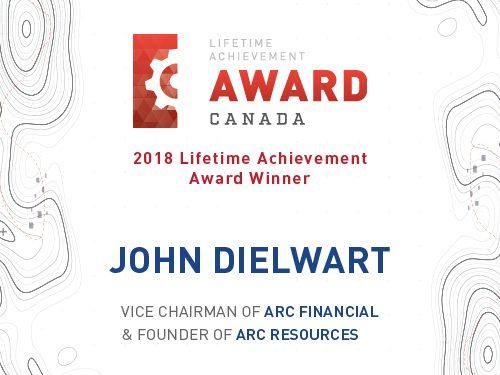 John Dielwart, Canada Lifetime Achievement Award Winner 2018