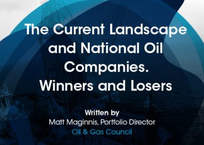 The Current Landscape and National Oil Companies. Winners and Losers