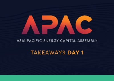 Asia Pacific Energy Assembly 2021: Day 1 Takeaways