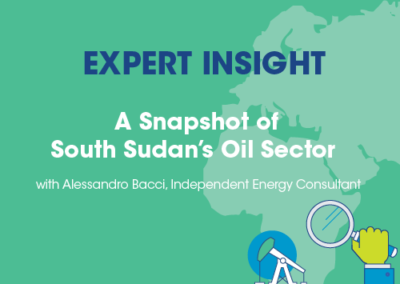Alessandro Bacci, Independent Energy Consultant, A Snapshot of South Sudan's Oil Sector