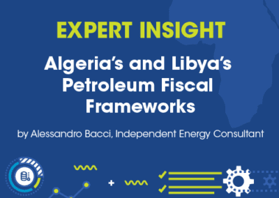 Alessandro Bacci, Independent Energy Consultant, Algeria's and Libya's Petroleum Fiscal Frameworks