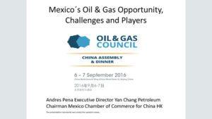 Andres Pena, Executive Director, Yanchang Petroleum International