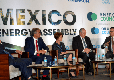 Benjamin Torres-Barron maderates the Deep Offshore panel at Mexico Assembly 2017