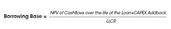Borrowing base formula