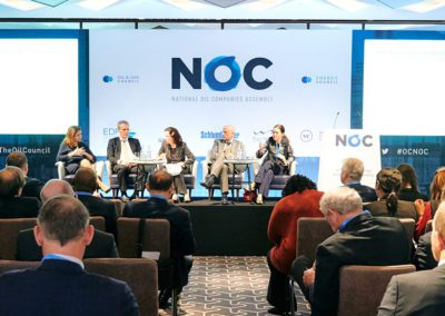 speakers on stage at NOC Assembly 2019