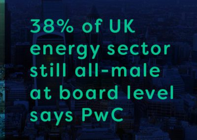 38% of UK energy sector still all-male at board level says PwC