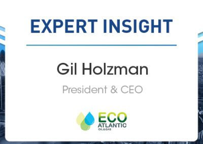 Small and Mid-Cap Companies of the Future: Gil Holzman, Eco Atlantic Oil & Gas