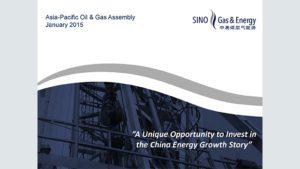 Glenn Corrie, Sino Gas & Energy
