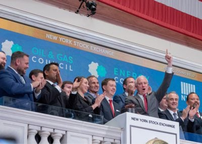 Closing Bell Ceremony for Oil & Gas Council Members and team