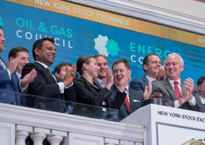 Iain Pitt and Oil & Gas Council team Close the Bell at NYSE