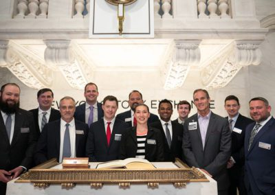 Oil & Gas Council CEO Iain Pitt, team and members at the 2019 Closing Bell Ceremony