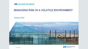 Oliver Wyman -Managing risk in a volatile environment